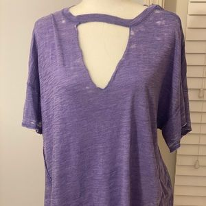 Free People Oversized Burnout Tee- Size Small